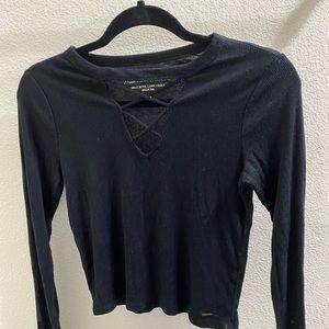 Black Long Sleeve Hollister Top
